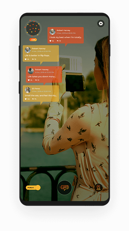 Augmented Reality Social Application